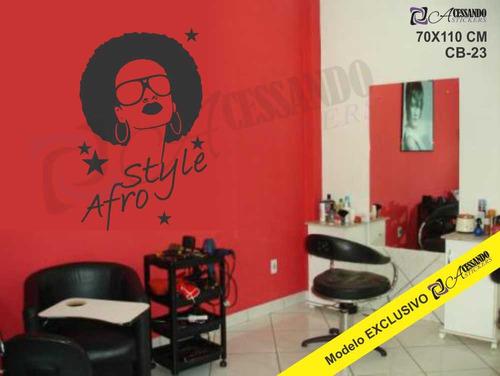adesivo parede cabeleiro afro beleza exclusivo novo + barato
