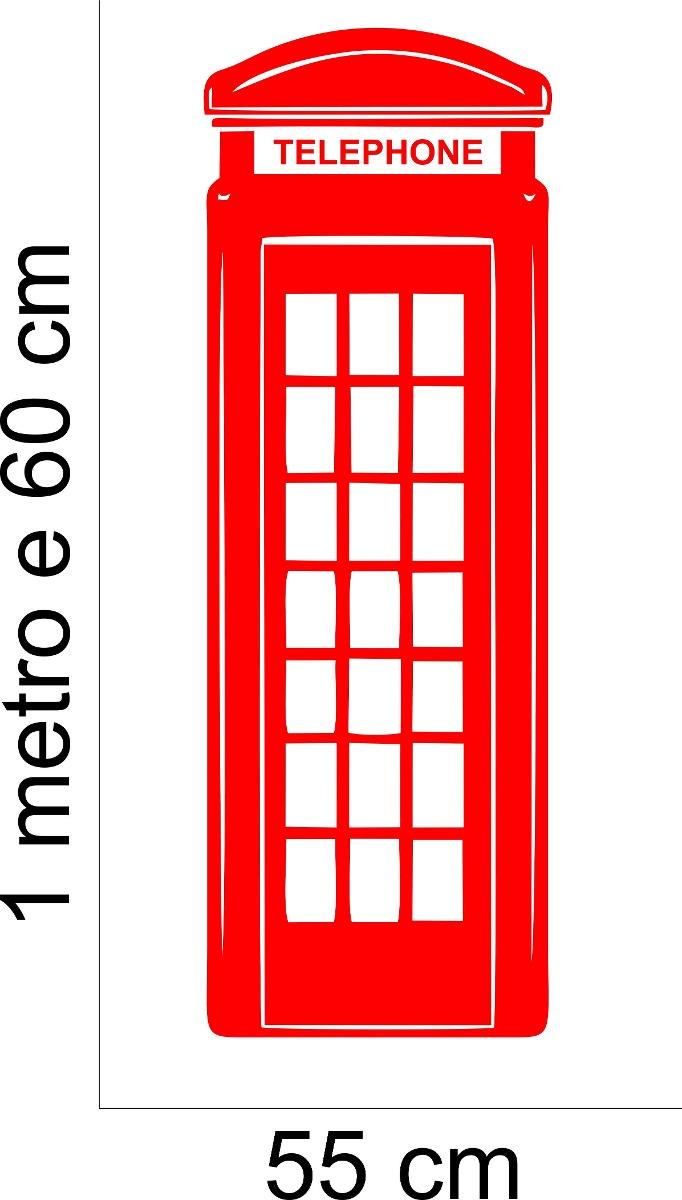 82014eb43 Armario Para Cozinha Planejado ~ Adesivo Parede Cabine Telef u00f4nica  Londres Inglaterra Clássica R  59