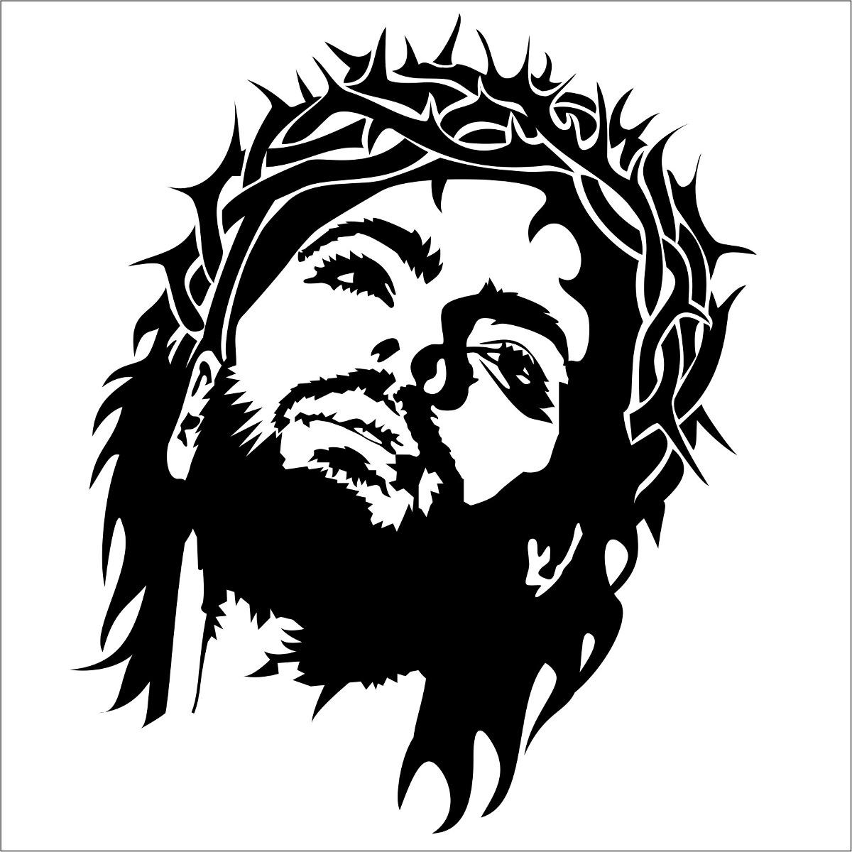 Aparador Acrilico Onde Comprar ~ Adesivo Parede Carro Jesus Cristo Frete Grátis R$ 52,13 em Mercado Livre