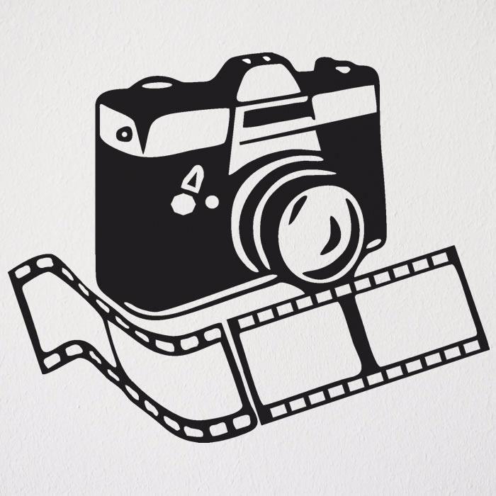 Adesivo Parede Camera Fotografica Filme Fotografo Estudio R 38