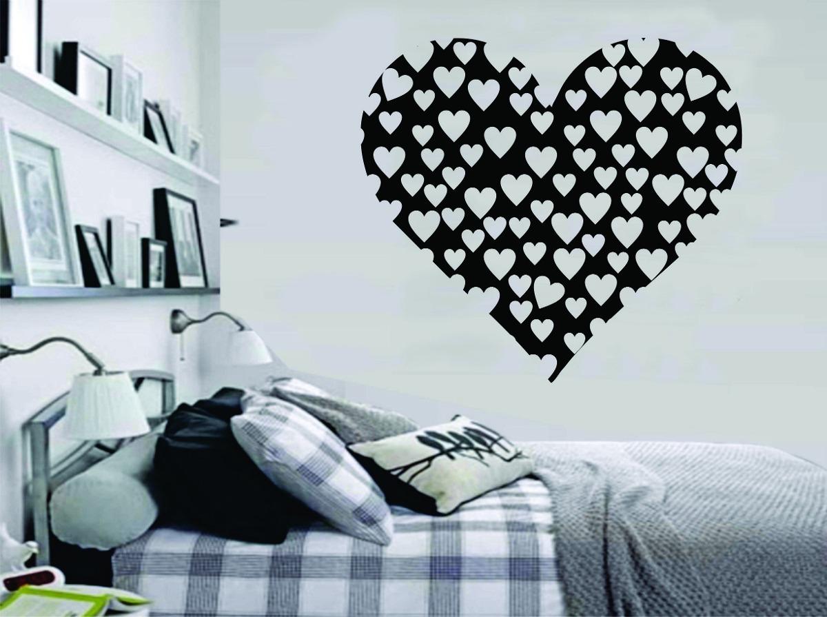Armario Ikea Pax Roble ~ Adesivo De Parede Quarto Casal Coraç u00e3o Amor Cabeceira R$ 29,99 em Mercado Livre
