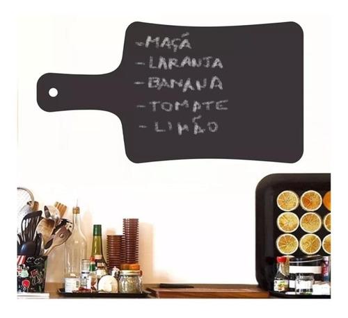 adesivo parede cozinha 35x50 receitas lousa de giz