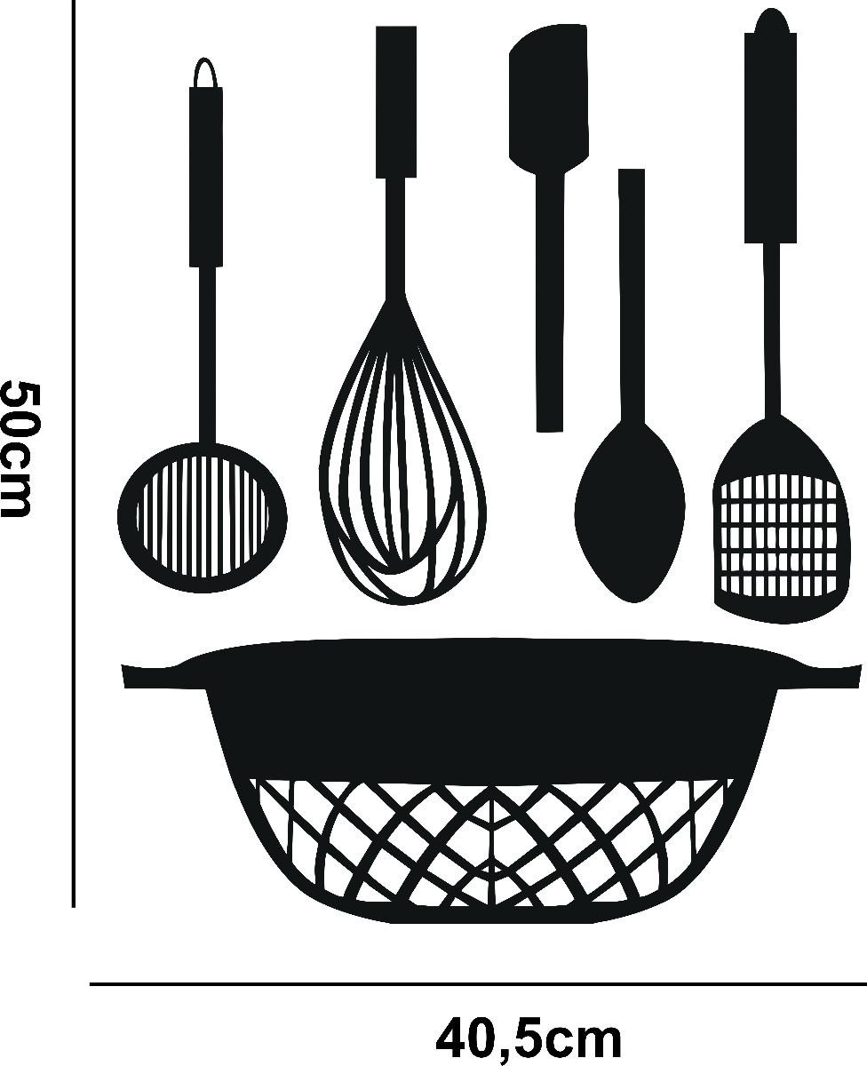 Adesivo De Parede Coruja ~ Adesivo Decorativo De Parede Cozinha Pia Talheres R$ 17,98 em Mercado Livre