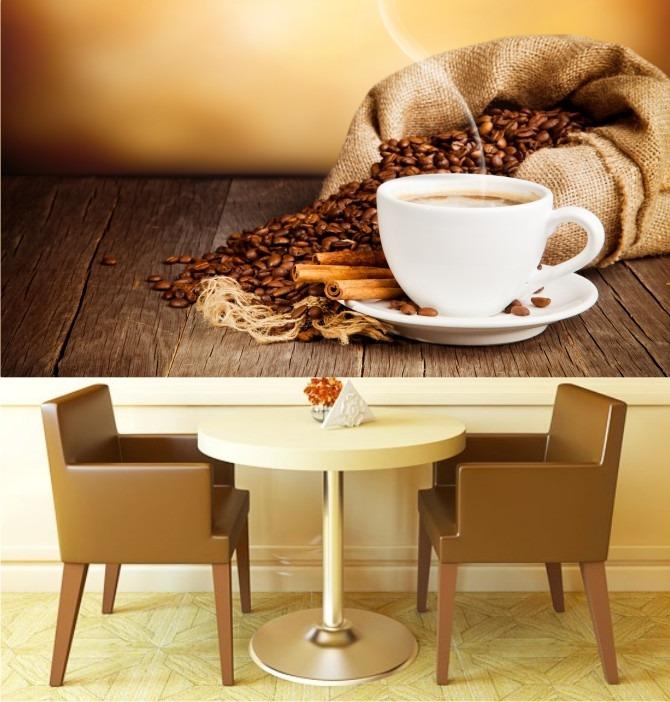Adesivos De Parede Cozinha Mercado Livre ~ Adesivo Painel Papel De Parede Cafe Cozinha Café Xicara M04 R$ 99,00 em Mercado Livre