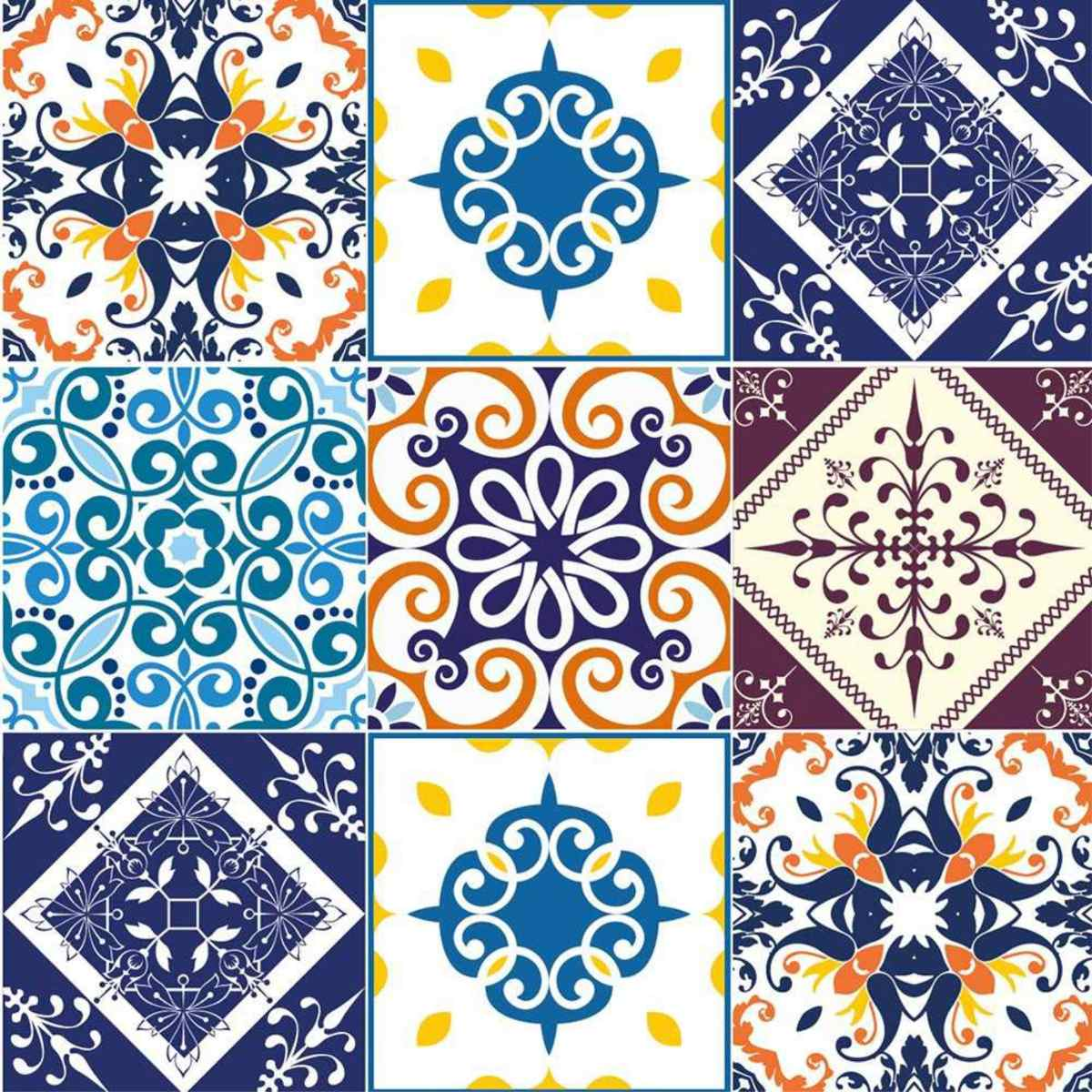 Adesivo Parede Cozinha Azulejo Português Mexicano Ladrilho R$ 19 99  #B0571B 1200x1200 Azulejo Banheiro Parede