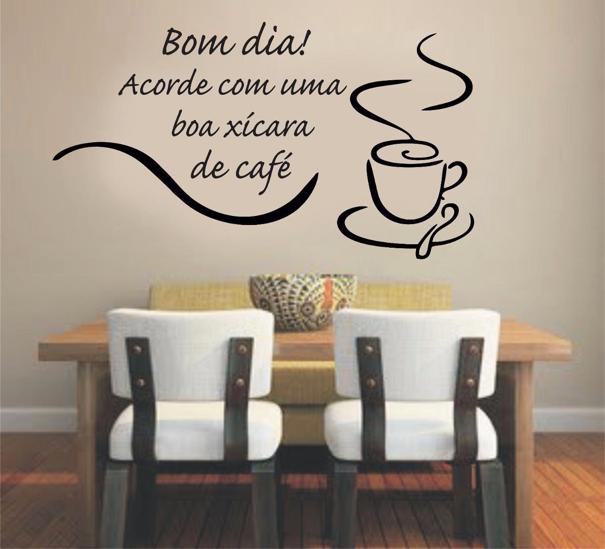 Aparador Azul Tifany ~ Adesivo Parede Cozinha Café Coffee Xícara Frase Bom Dia R$ 34,99 em Mercado Livre