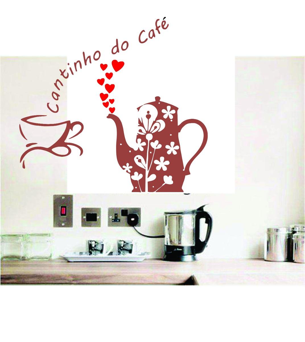 Aparador Azul Tifany ~ Adesivo Parede Cozinha Cantinho Do Café Xícara Coraç u00e3o R$ 25,99 em Mercado Livre