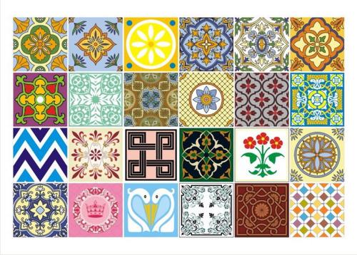 adesivo parede cozinha ladrilho azulejo mexicano português