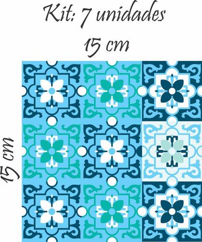 adesivo parede cozinha pia ladrilho azulejo berga azul