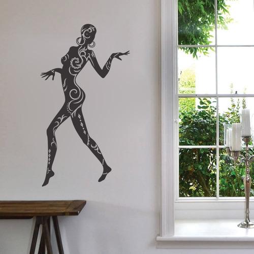 adesivo parede decorativo africana mulher negra desenho