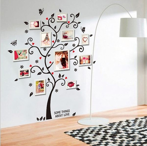 Adesivo parede decorativo rvore geneal gica quadros - Tema sulla cucina ...