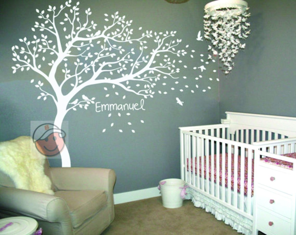 Adesivo Parede Decorativo Arvore Grande Maternidade Gr Vida R 139  -> Adesivo De Parede Com Fotos