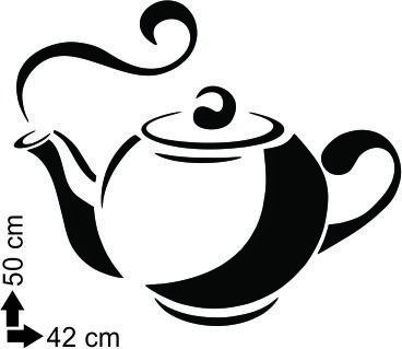 adesivo parede decorativo bar cozinha café chá chaleira