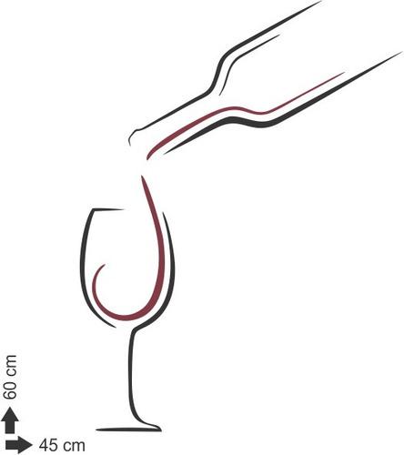 adesivo parede decorativo bar cozinha vinho bebida 45x60 cm