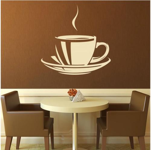 adesivo parede decorativo café cafezinho bar cozinha xícara