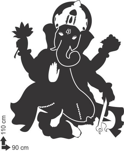 adesivo parede decorativo ganesha elefante hinduismo 110x90