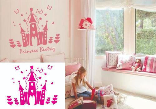 adesivo parede decorativo infantil castelo quarto meninas