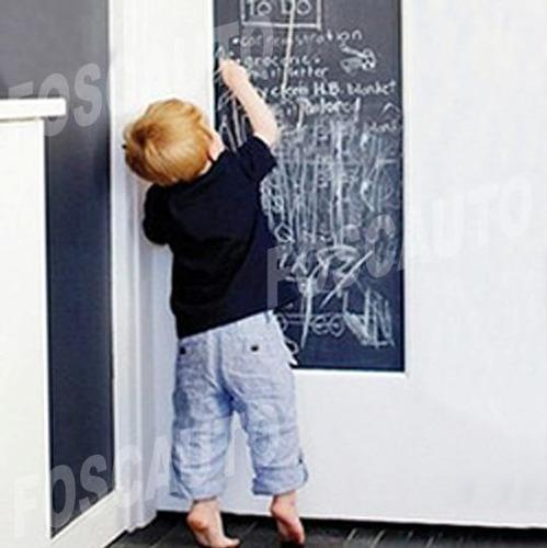 adesivo parede decorativo lousa quadro negro 3m x 1m + 8 giz