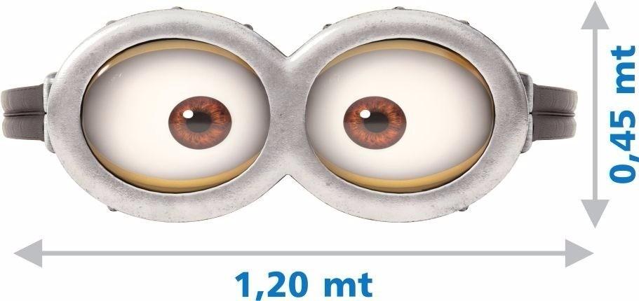 Adesivo Parede Decorativo Oculos Minions Olhos Tam Grande R 75