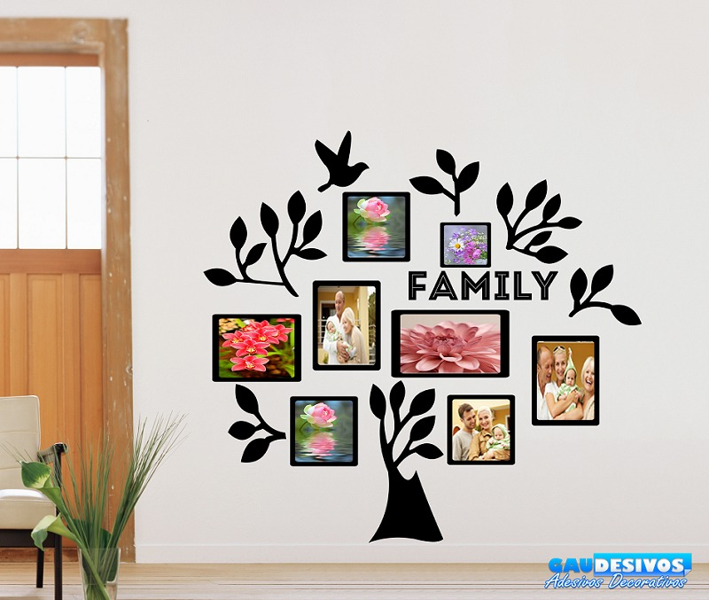 Adesivo Porta De Barbearia ~ Adesivo Parede Decorativo Porta Retrato Arvore Familia R$ 107,99 em Mercado Livre