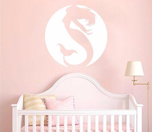 adesivo parede decorativo sereia mar oceano mandala mulher