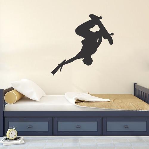 adesivo parede decorativo skate menino quarto rodas 80x82cm