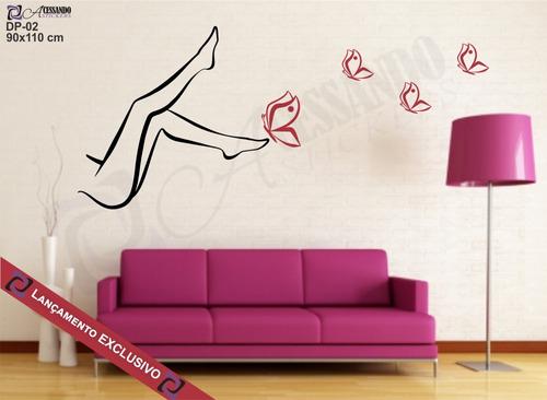 adesivo parede depilação salão beleza estética pronta entreg