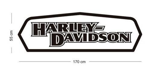 adesivo parede e portas harley davidson grande frete grátis!