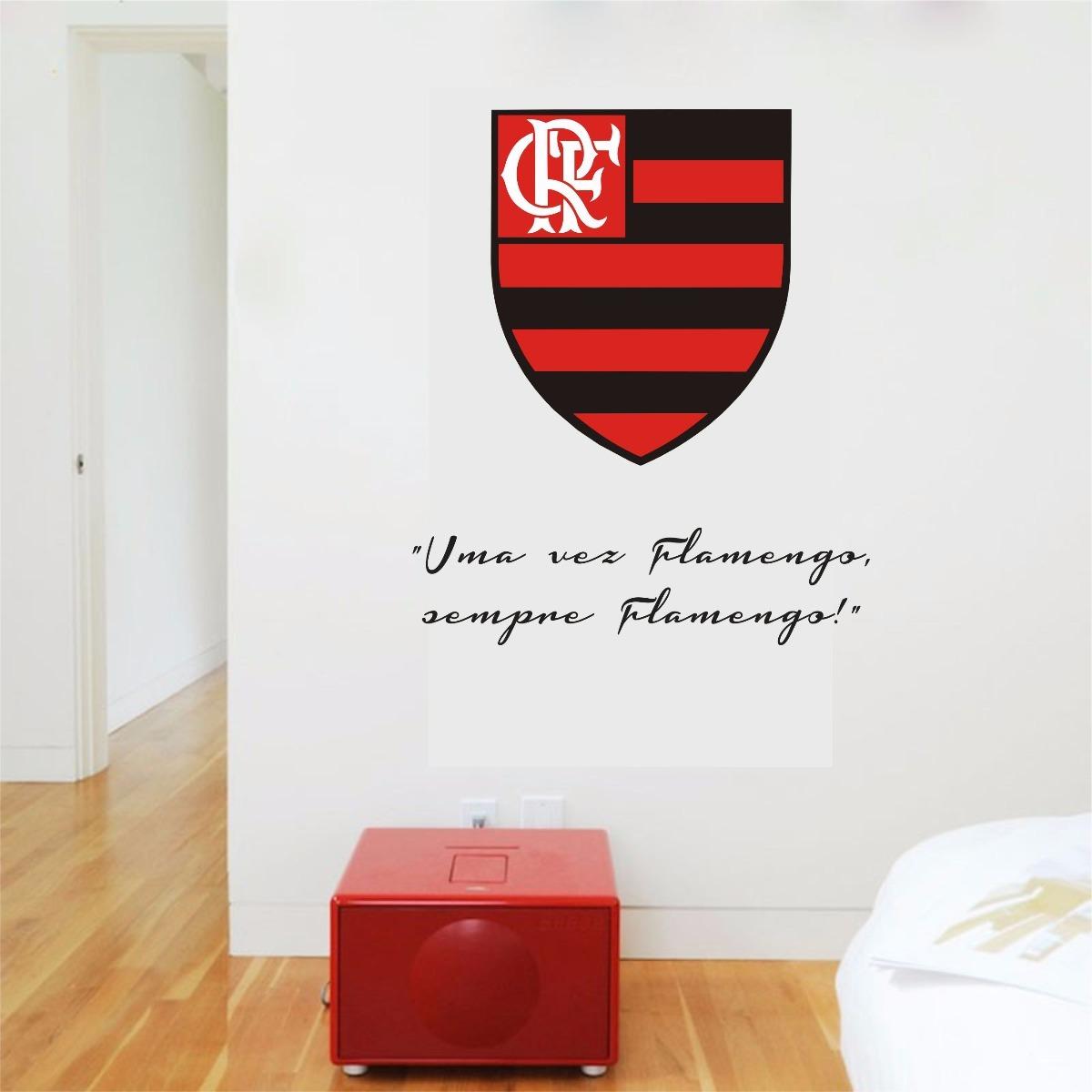 adesivo parede escudo frase uma vez flamengo sempre flamengo. Carregando  zoom. d759748d9313e