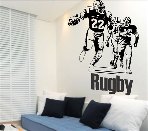 adesivo parede esporte futebol americano rugby 1,30 metro