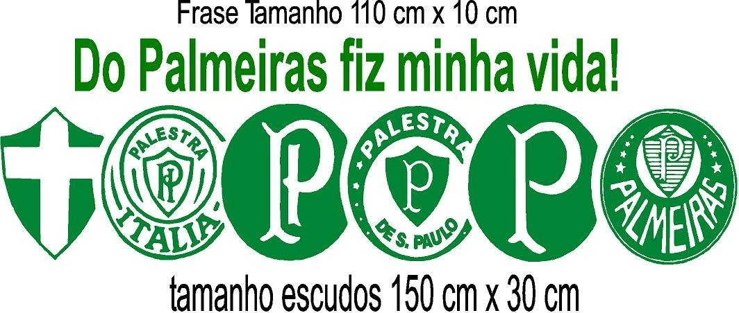 Adesivo Parede Evolução Escudo Palmeiras Frase 150