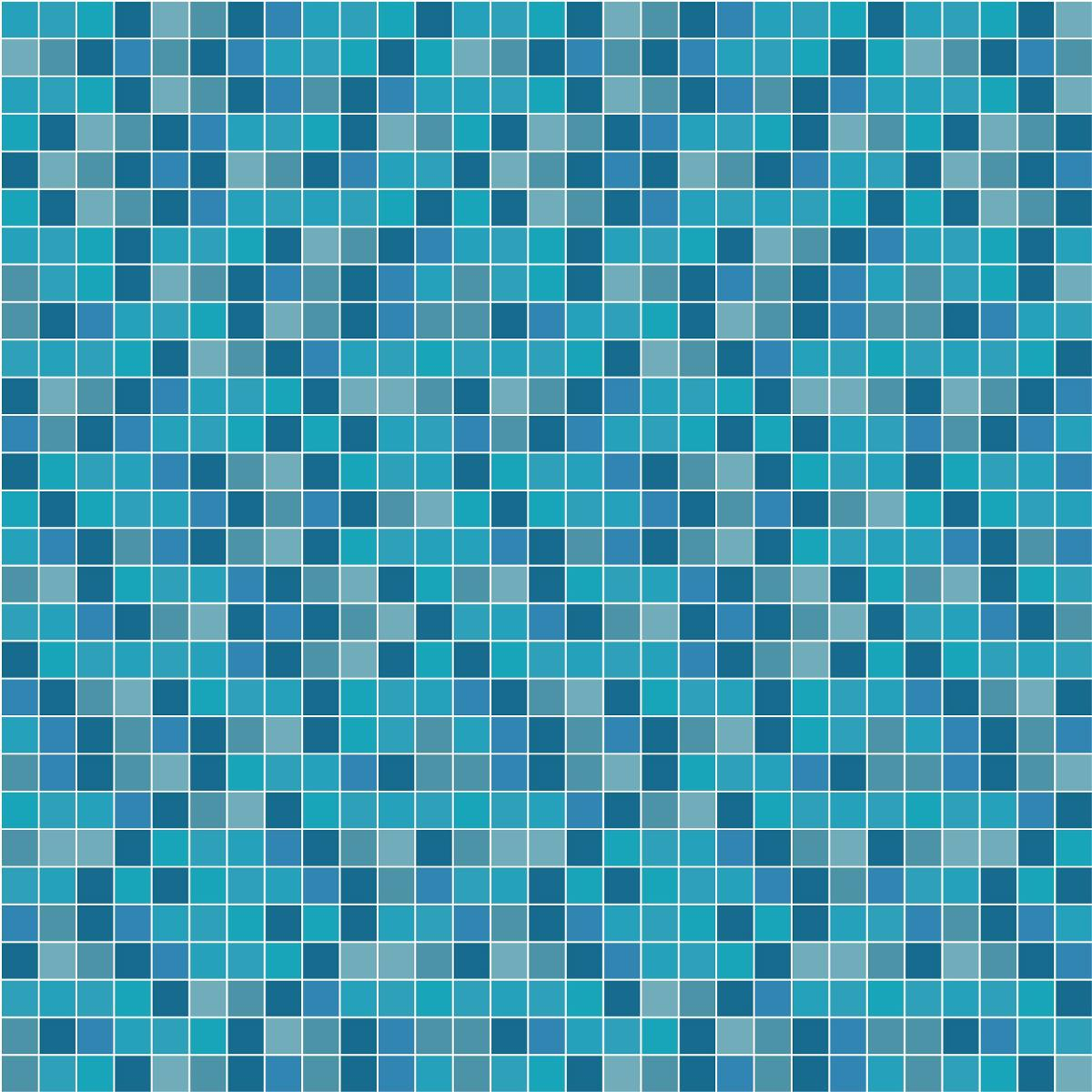 adesivo parede faixa azulejo ladrilho azul piscina kit 7