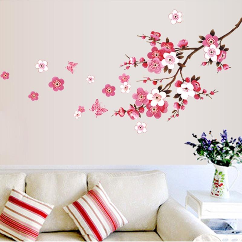 Adesivo Parede Flor Cerejeira Borboleta Decoração árvore R 2499