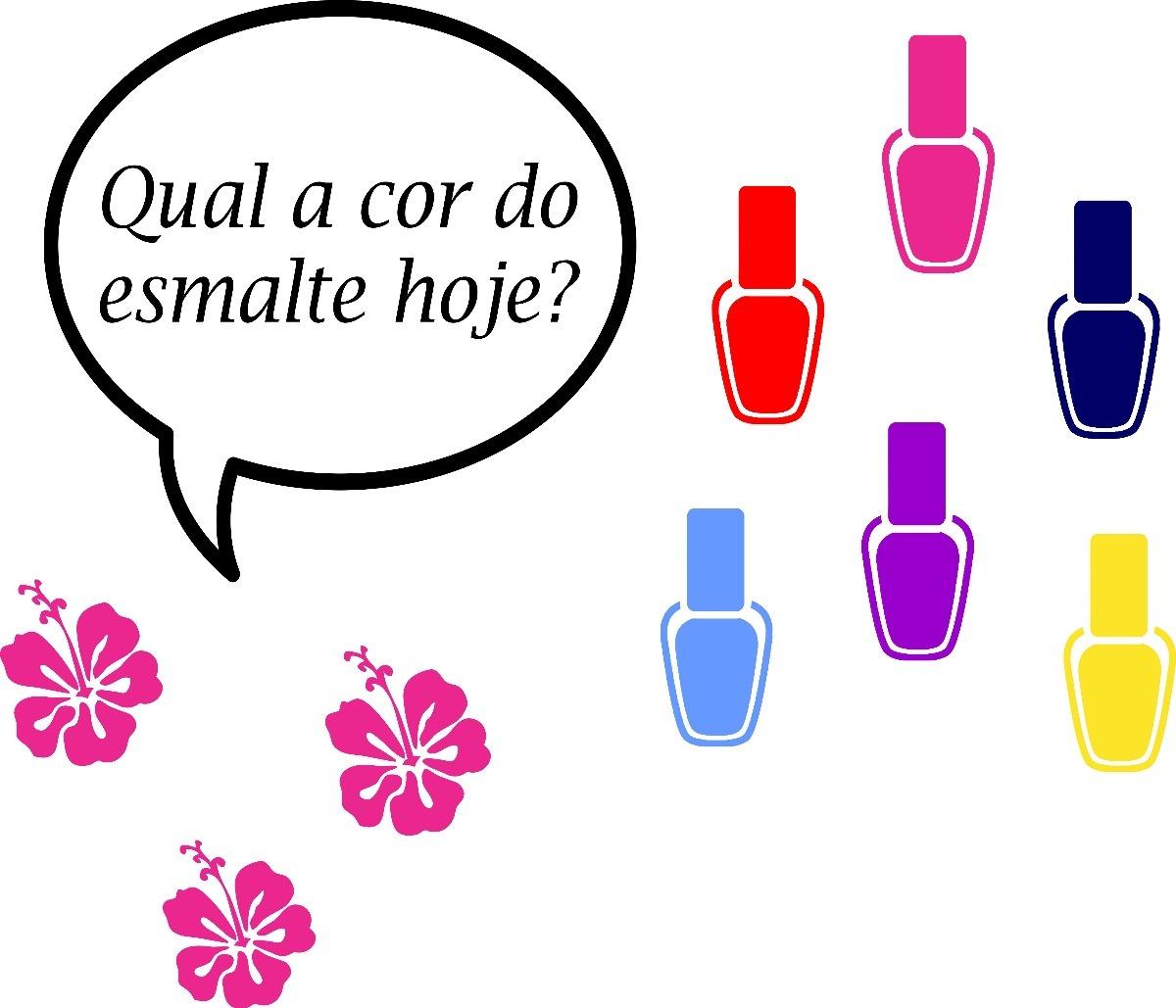 Adesivo Parede Fraseesmaltesflor Salão De Beleza Manicure R 80