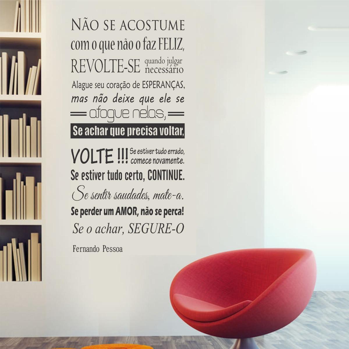 Adesivo Parede Frase Fernando Pessoa Motivação Vida Amor R 4990