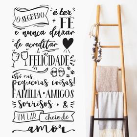 Adesivo Parede Frase Motivação O Segredo É Ter Fé Família