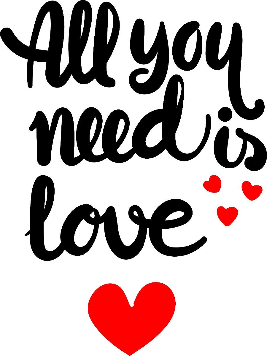 Adesivo Parede Frase Motivacional Ingles Amor Amor Love R 20 00