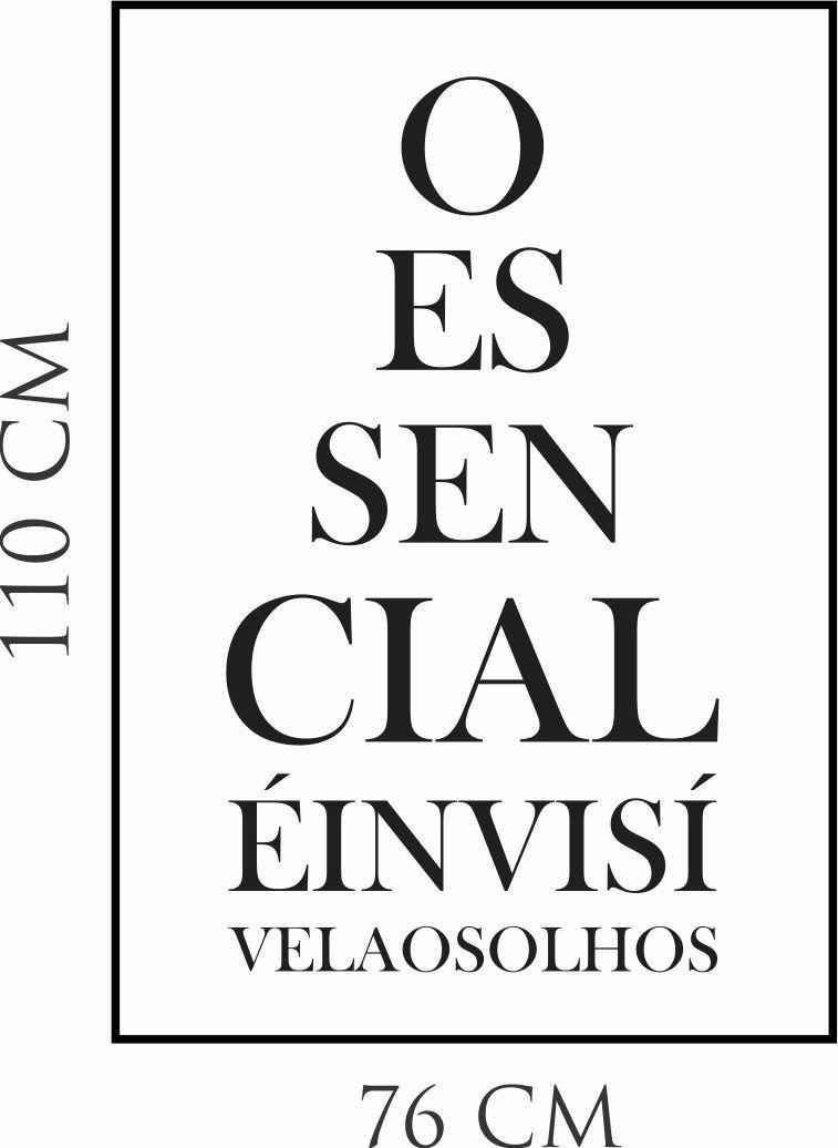 Armario Salon Segunda Mano ~ Adesivo Parede Frase O EssencialÉ Invisível Aos Olhos Paz R$ 49,99 em Mercado Livre