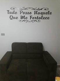 Adesivo Parede Frase Tudo Posso Naquele Que Me For In02 R 4000