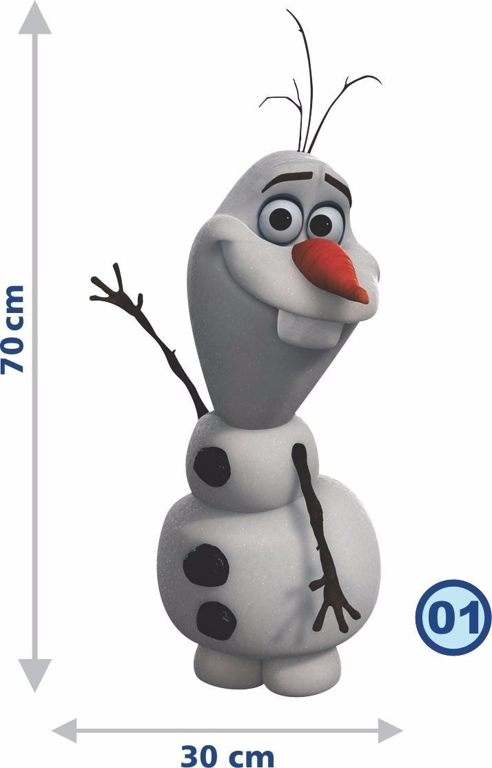Adesivo Parede Frozen Olaf Quarto Filha Infantil Nome Hd R 70