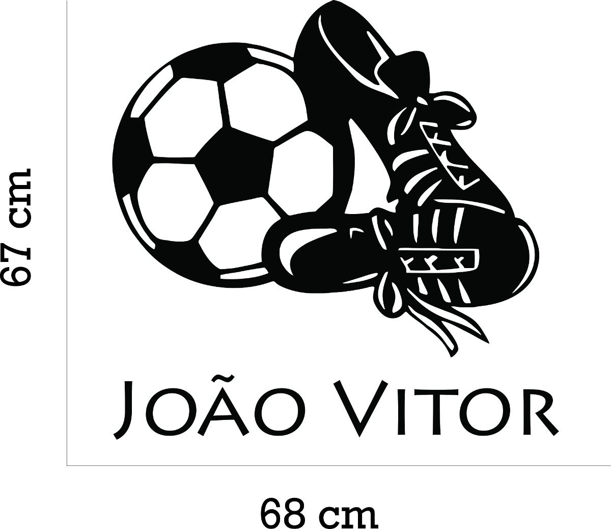 adesivo parede futebol bola chuteira nome + kit bolas. Carregando zoom. 13ed63d439ee9