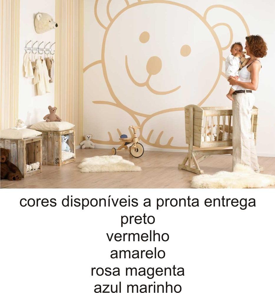 Adesivo Para Moto Z Play ~ Adesivo Parede Gigante Ursinho Teddy Infantil Urso Amigo R$ 190,00 em Mercado Livre