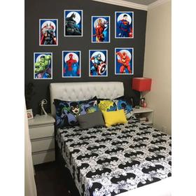 Adesivo Parede Infantil 8 Heróis Marvel Vingadores - 35x25cm