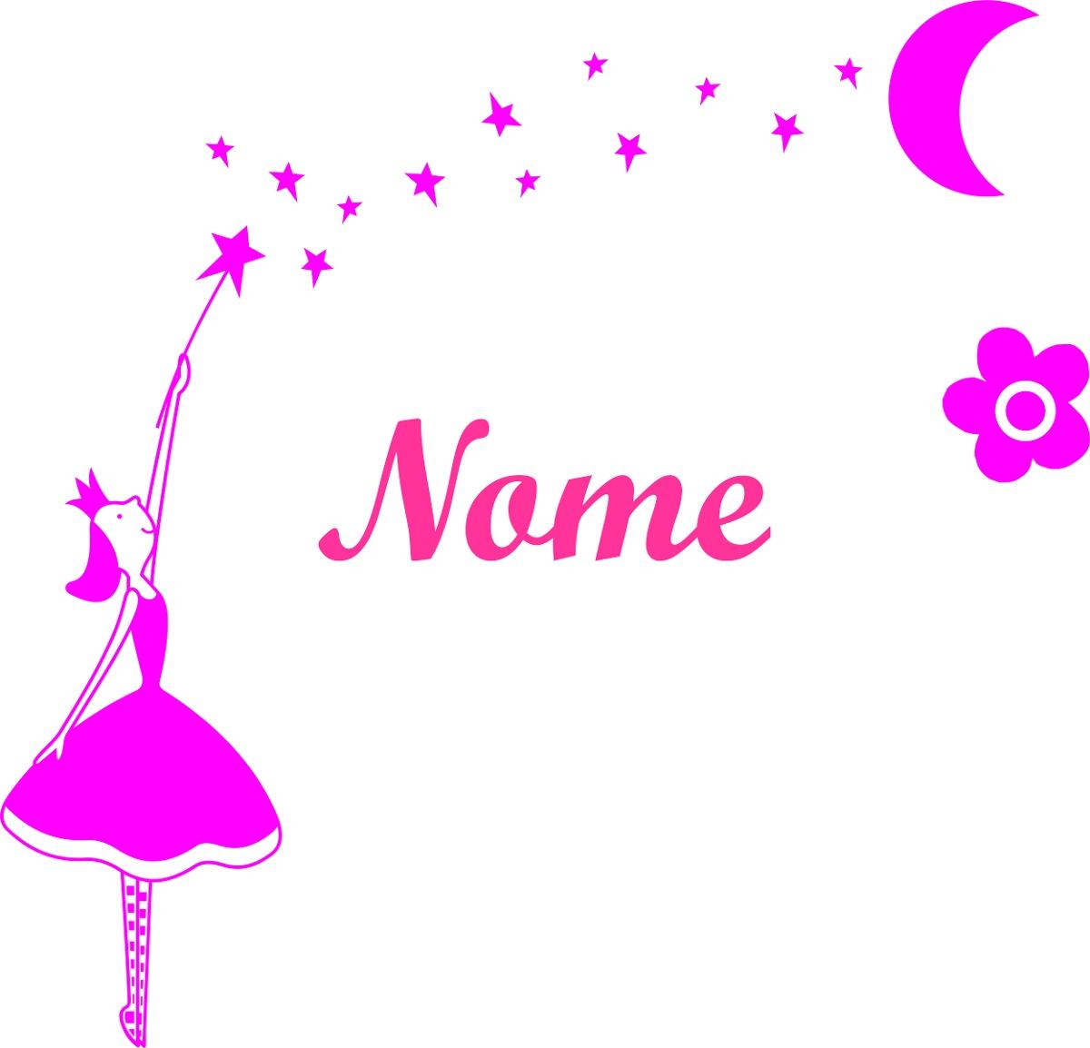 Adesivo Azulejo Pastilha Resinada ~ Adesivo Parede Infantil Bailarina Estrela Flor (seu Nome) R$ 24,99 em Mercado Livre