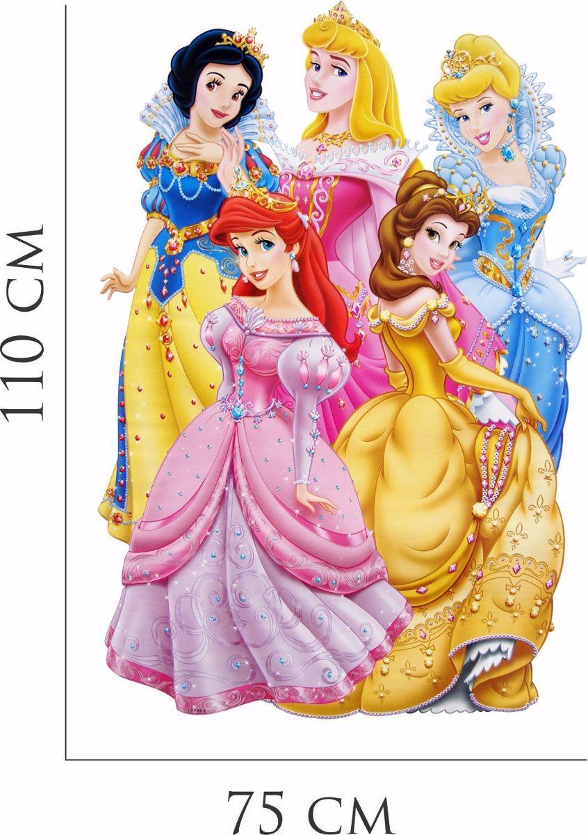 Adesivo Parede Infantil Desenho Disney Princesas Cinderela R 72