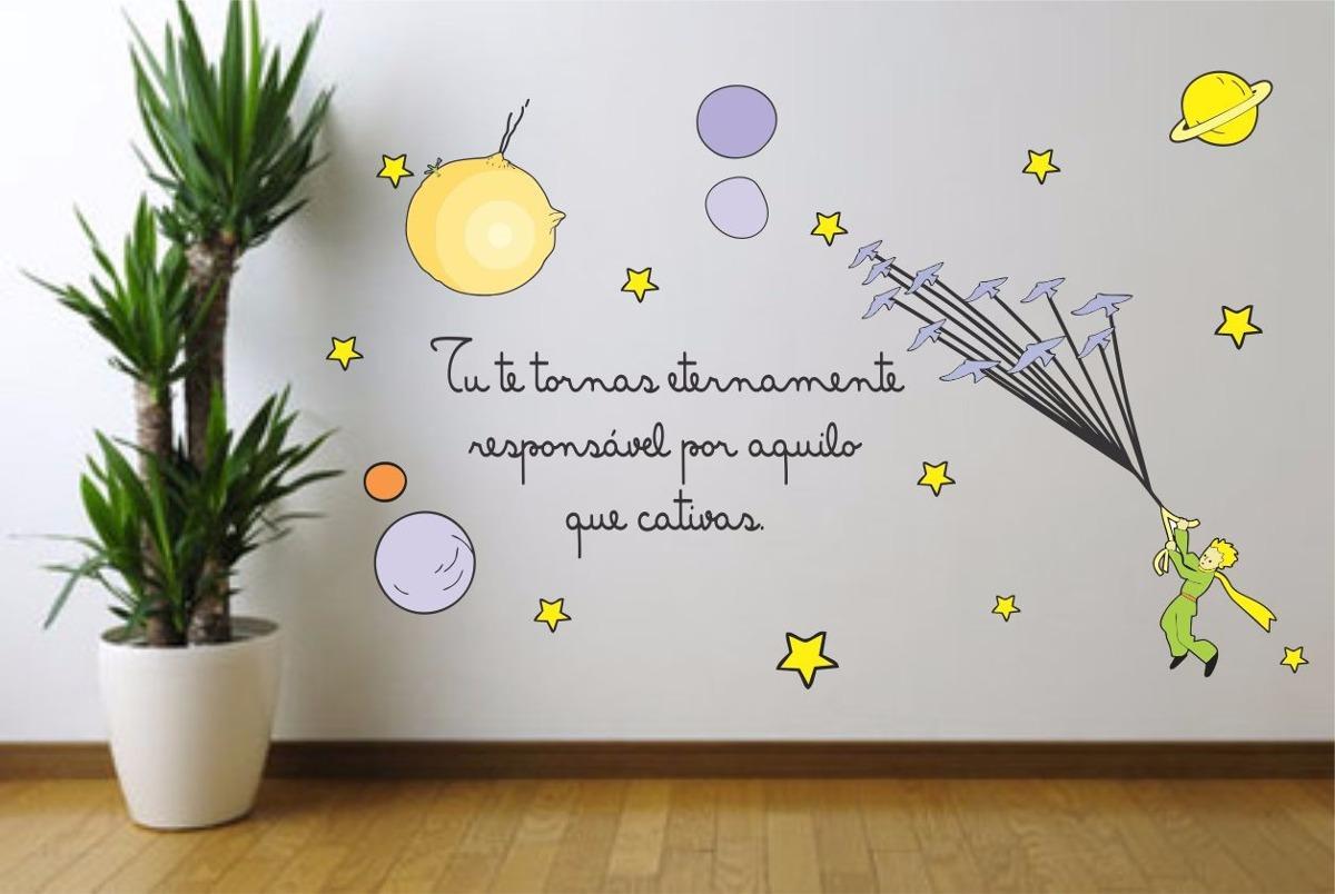 Armario De Cozinha Pequeno E Barato ~ Adesivo Parede Infantil Pequeno Principe Frase Estrela Lua