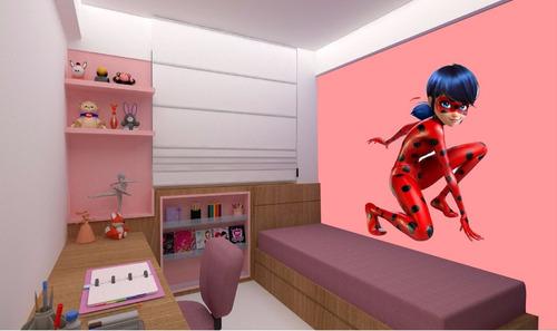 adesivo parede ladybug miraculous