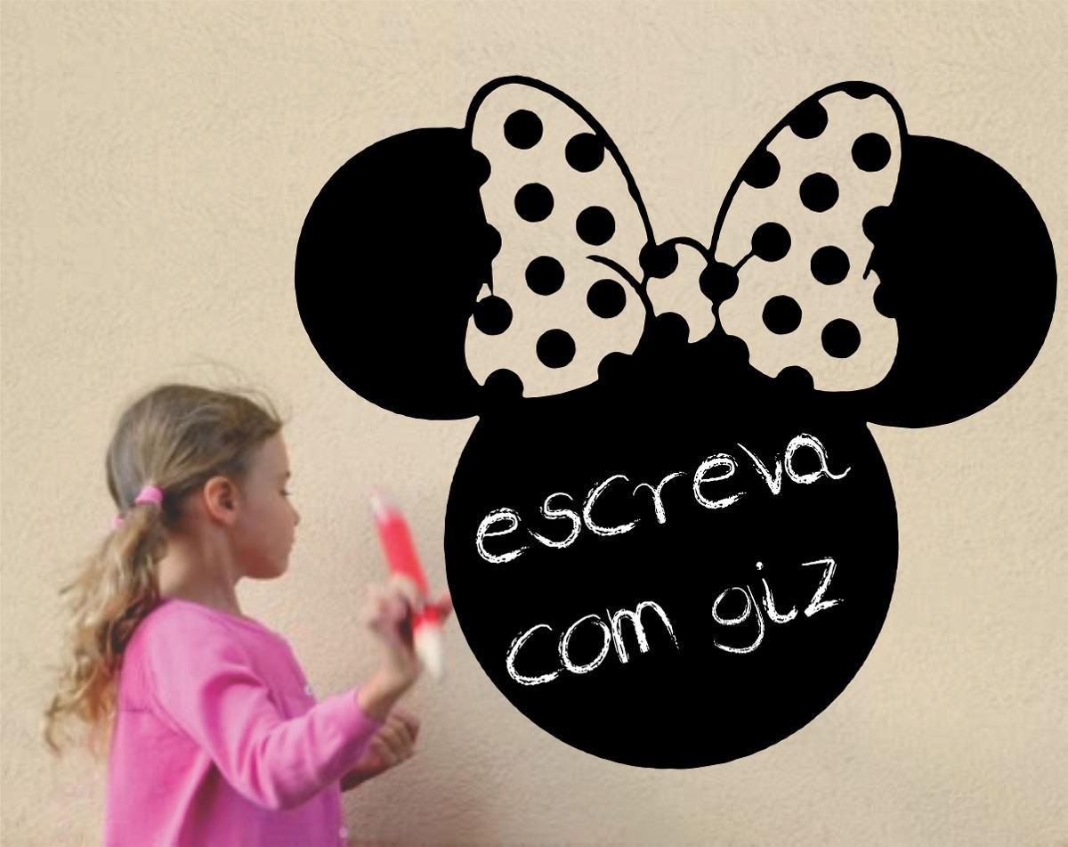 Papel De Parede Adesivo Herois ~ Adesivo Parede Lousa Quadro Infantil Minnie 1,1 Metro Disney R$ 65,00 em Mercado Livre