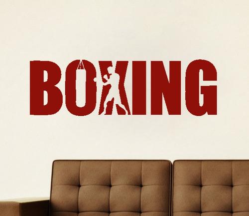 adesivo parede lutador boxe arte marcial academia 100x30cm