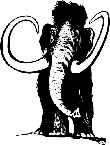 adesivo parede mamute elefante 1,4 metro infantil quarto